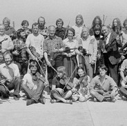A group shot of all the fiddle students and teachers, 1970s.