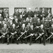 Pipers gather at the second annual Na Píóbairí Uilleann Tionól at Bettystown, Co. Meath in 1969. Willie Clancy is seated front row far left.  Photo courtesy of NPU.