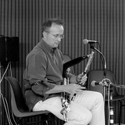 Kevin Rowsome performing at a lunchtime piping recital 2001.