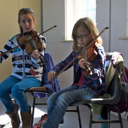 Students in Mick Coneely's fiddle class 2011.