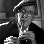 Séamus Ennis soon after his final public appearance at the Lisdoonvarna Folk Festival in 1982.