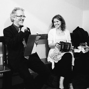 Noel Hill and Lorraine O'Brien backstage during the 2011 concertina recital.