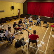 A banjo class in the community hall in Mullagh.