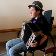 A student in Breandán Ó Beaglaoich's accordion class 2012.