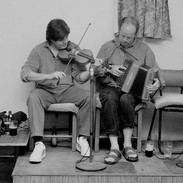 Paddy Glackin (left) and Conor Keane playing in Gleeson's of Coore, 1995.