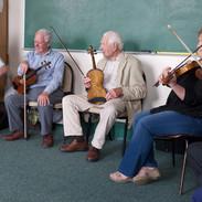 Bernadete McCarthy, Dermy Diamond, Vincent Griffin, Ben Lennon and Máire O'Keeffe in Máire's master fiddler workshop 2011.