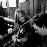 Mairéad Ní Mhaonaigh and Dermot Byrne playing in Peter & Bridie Cleary's pub, 1995.