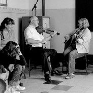 Donncha Ó Dhuibhír, Máire O'Keffe and Vincent Griffin in Máire's master fiddler workshop 2003.