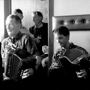 Johnny O'Leary and Benny McCarthy playing in Hennessy's.