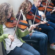 Students in Martin Hayes's fiddle class 2009.