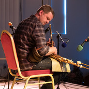 Emmett Gill playing at the 2019 uilleann pipes recital.