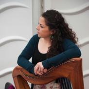 Michelle Mulcahy at the 2012 harp recital.
