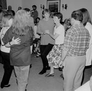 Set dancers in Gleeson's of Coore, 1993.