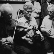 Joe Ryan, Gerdy Commane and Peter Mackey playing in a session in D'Arcy's of Mullagh 1995.
