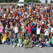 A shot of the fiddle students and teachers 2008. Compare the numbers of people with Liam McNulty's shot from the 1970s.