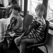Young students in Aoife O'Connor and Aoife O'Keeffe's fiddle class, 1997.
