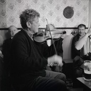 Vincent Campbell playing in Cleary's, Ennis Road, 1998.