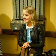 Tara Breen backstage during the 2014 fiddle recital.