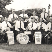 The Laichtín Naofa Céilí Band in the early 1960s.  Standing left to right - Paddy Joe McMahon, Michael Sexton, Junior Crehan, Paddy Galvin, Christy Dixon, Angela Merry.  Seated l. to r. - Willie Clancy, Jimmy Ward, Martin Malone, J.C. Talty, Michael Falsey, Martin Talty, Colm O'Connor.
