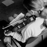 A young student in John Kelly's fiddle class, 1992.