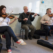 Siobhán Peoples, Peadar O'Loughlin and Tommy Peoples play for fiddle students 2011.