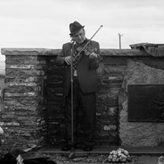 John Kelly playing at the graveside tribute to Willie Clancy 1977.