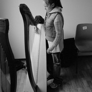 A young harp student 2007.