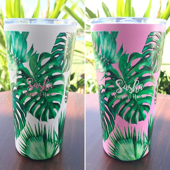 ハワイアンデザインタンブラー Hawaiian Design Tumber