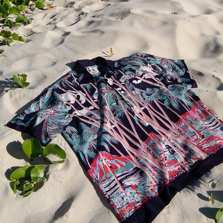 おしゃれなヴィンテージアロハ Fashionable Vintage Aloha Shirt 「Kona Bay Hawaii」