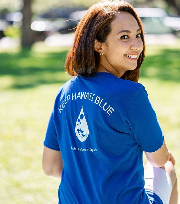 Keep Hawaii Blue T-Shirts / キープ・ハワイ・ブルー Sasha x Wimini コラボTシャツ
