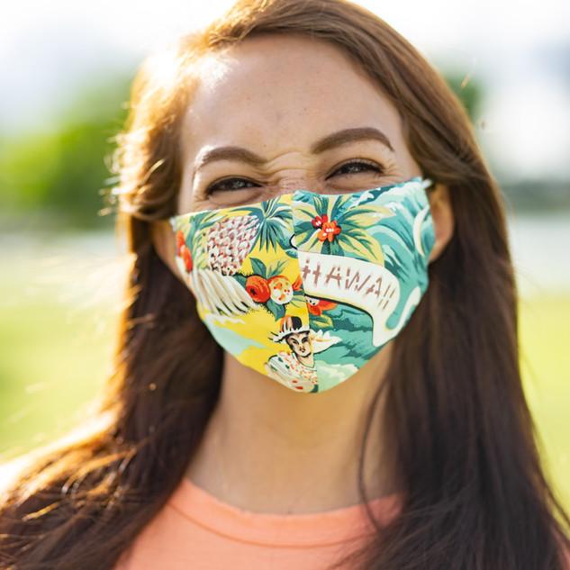 Kona Bay Hawaii Aloha Shirts Texture Mask 2ps