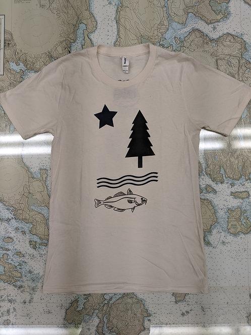 Vintage Maine Flag - Loyal Citizen T-shirt