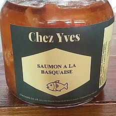 Saumon a la Basquaise