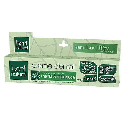 Creme Dental Boni Natural s/flúor