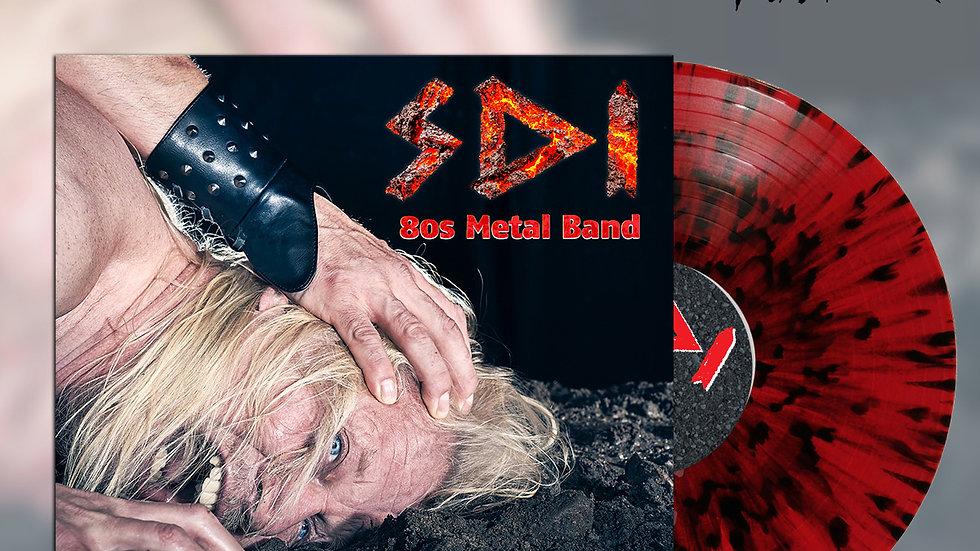 80s Metal Band Vinyl Album, Splatter