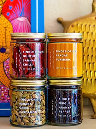 South Asian-owned spice shop with sustainably sourced products.