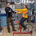 Arm- und Rückenlängenmessung, Ergonomieberatung, Satteldruckmessung