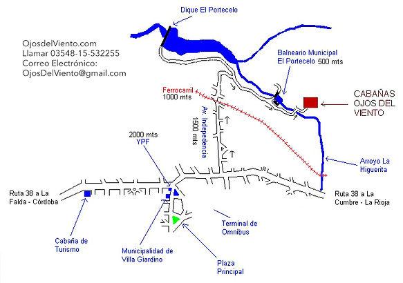 Map to Cabañas Ojos Del Viento