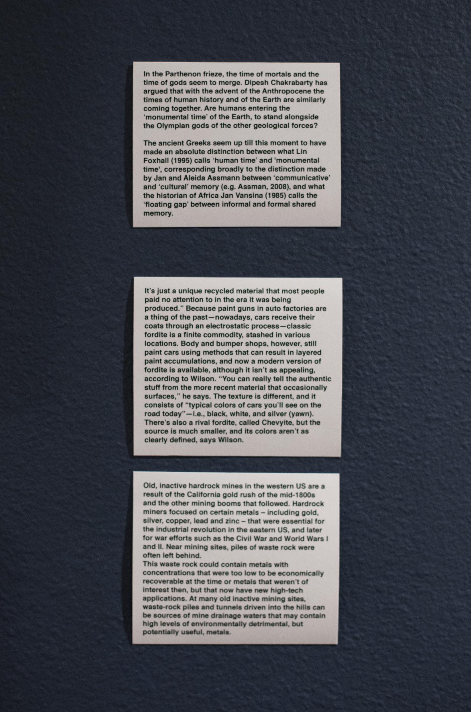 Luke Harnden - Wall Texts
