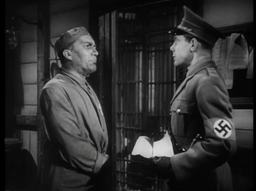 Wilfrid Lawson as Pastor Frederick Hall and Marius Goring as Fritz Gerte in Pastor Hall