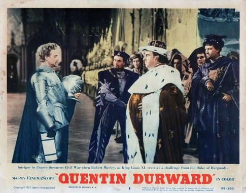 Marius Goring as Count Philip de Creville, Michael Goodliffe as Count De Dunois and Robert Morley as King Louis XI