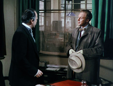 Herbert Lom as Julius de Koster and Marius Goring as Inspector Lucas