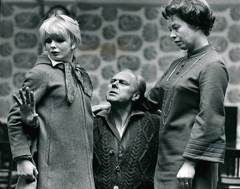 Marius Goring rehearsing The Bells 1968 with Elizabeth Knight and Kathleen Michael