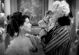 Susan Lyall Grant as Ginette and Marius Goring as Sir Percy Blakeney