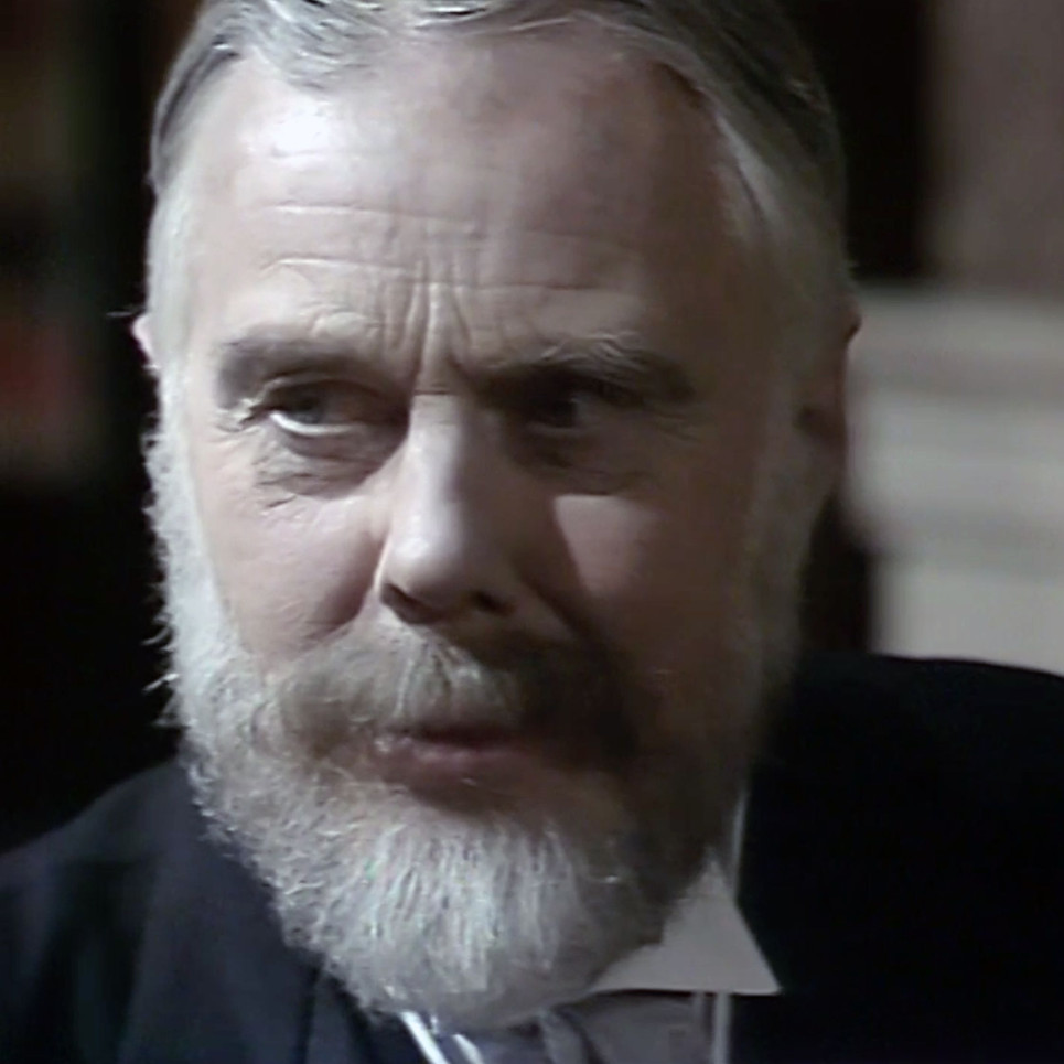 Marius Goring as King George V in Edward and Mrs Simpson Part 2 'Venus at the Prow'. Director: Waris Hussein. Writers: Frances Donaldson, Simon Raven. Broadcast 15 November 1978