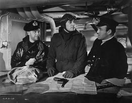 Marius Goring as Lieutenant Felix Schuster, Conrad Veidt as Captain Ernst Hardt and Torin Thatcher as unnamed officer