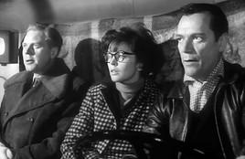 Marius Goring, Dawn Addams, and Eddie Constantine
