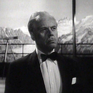 Marius Goring as Colonel Dimonella in The Third Man Season 5 Episode 1 'A Question in Ice'. When the body of Italian partisan who was last seen with Harry Lime during World War II is discovered at the end of a glacier, Harry returns to the Alps to face retribution from the agent's former compatriots. Broadcast 27 June 1964