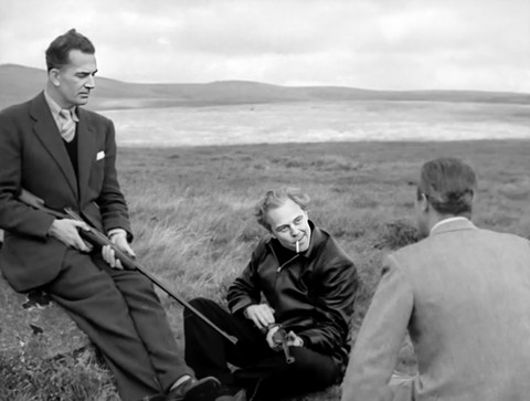 Hugh Sinclair as Hamish McArran, Marius Goring as Sholto Lewis and Ray Milland as Clay Douglas