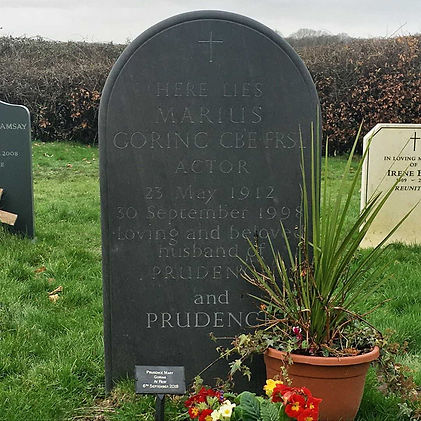 Marius & Prudence Goring Headstone